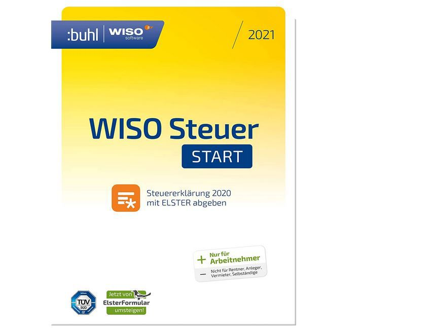 WISO Steuer-Start 2021 für das Steuerjahr 2020 für 10,99€ (statt 15€) Download