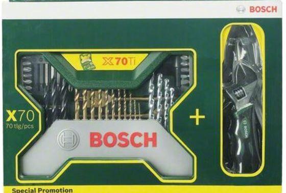 Bosch X Line Zubehörbox mit 70 Teilen inkl. Zangen für 25,90€ (statt 47€)