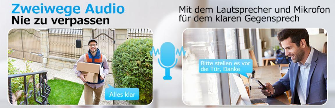 Dihoom WLAN Akku Überwachungskamera 1080P In  Outdoor für 31,49€ (statt 70€)