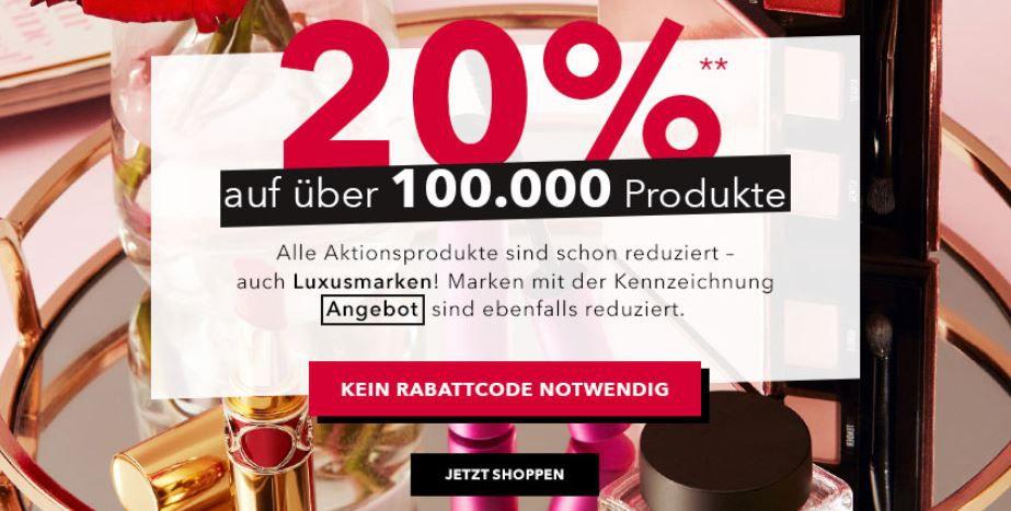 Bis Mitternacht: Douglas 20% Rabatt auf über 100.000 Produkte + keine Versandkosten ab 24,95€