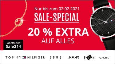 Christ: 20% Rabatt auf ALLE Sale Artikel   z.B. Tommy Hilfiger Herrenuhr James für 83,90€ (statt 97€)