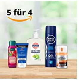"5 für 4 ""Beauty"" Aktion bei Amazon z.B. 5 x Head & Shoulders XXL Shampoo je 900ml für 33,56€ (statt 55€)"