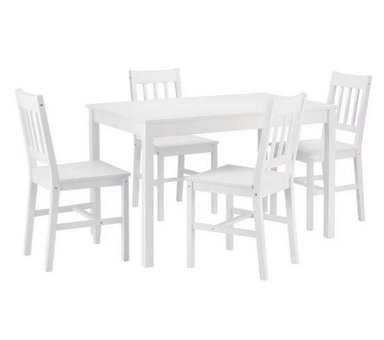 Bessagi Home Amaira nordische Tischgruppe mit 4 Stühlen für 174,30€ (statt 249€)