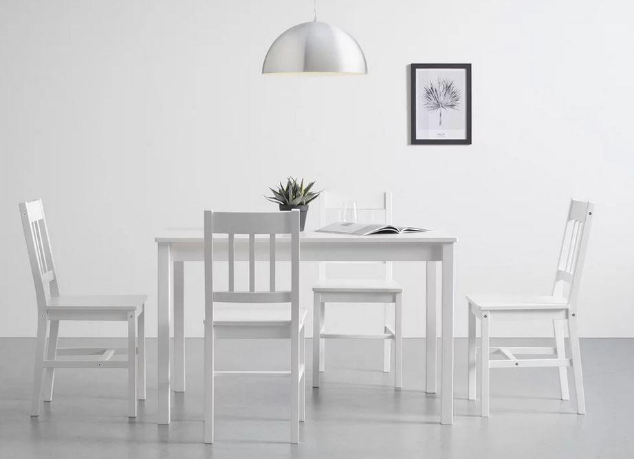 Bessagi Home Amaira nordische Tischgruppe mit 4 Stühlen für 180,25€ (statt 249€)