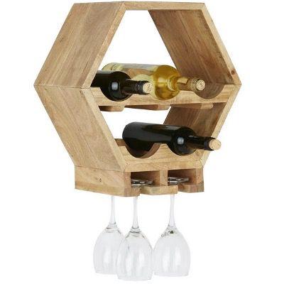 Modern Living Weinregal aus Akazie Massiv für 26,53€ (statt 38€)
