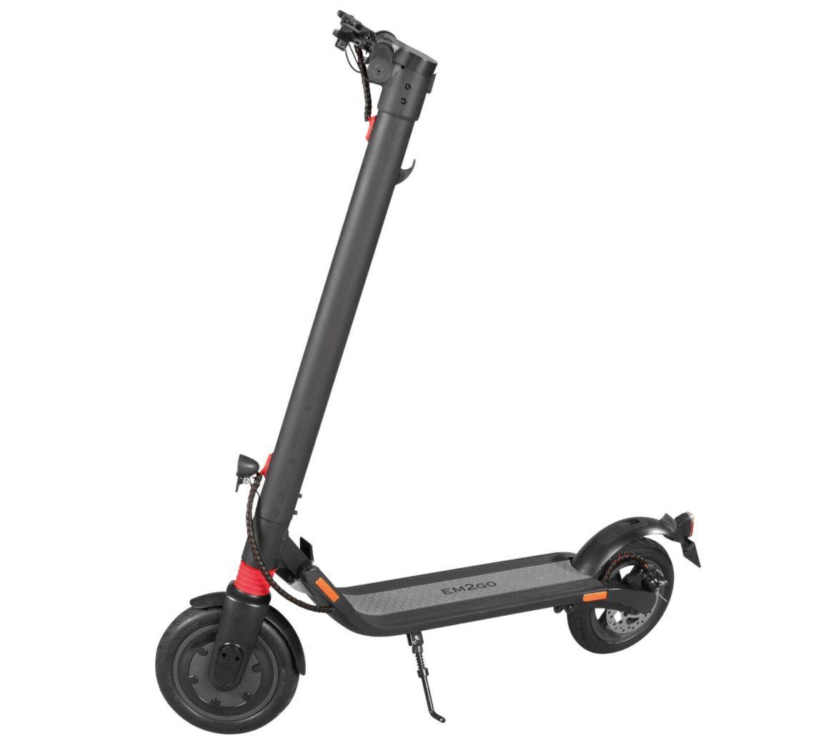 EM2GO E Scooter FW106ST P mit Straßenzulassung inkl. wechselbarem 6,4Ah Akku für 449,99€ (statt 534€)