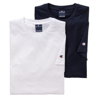 4er Pack Champion Unisex T Shirts in M bis 3XL für 39,98€ (statt 50€) + 10x FFP2 Masken gratis