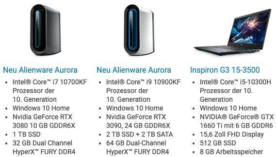 14% Rabatt auf Alienware Gaming Produkte   z.B. Aurora Ryzen Edition mit RX 5700 für 1.357,94€ (statt 1.554€)