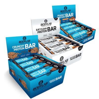 12x Peanut Protein Bar Peanut Caramel + 12x Crunchy Protein Bar + 12x Eat Clean Protein Bar für 37,49€ (satt 59€)