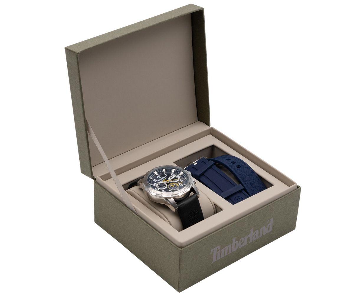 Timberland Westford Herren Analog Armbanduhr mit Leder Armband für 94,99€ (statt 189€)