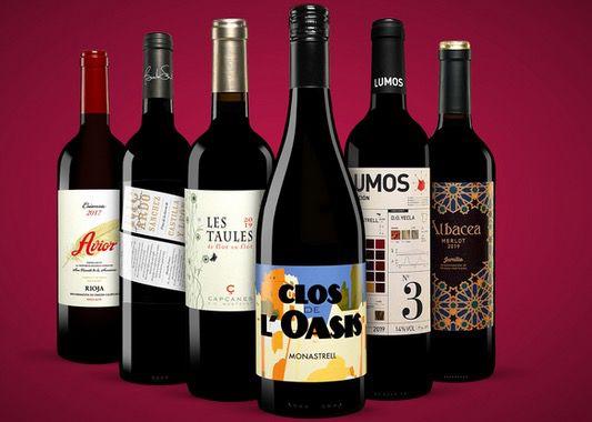 Vinos Rotwein Paket bestehend aus 6x Rotweinen ab 24,99€ (statt 54€)