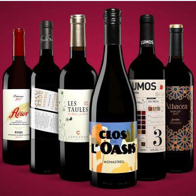 Vinos Rotwein Paket bestehend aus 6x Rotweinen ab 24,99€ (statt 54€) – oder 2x für 48,99€