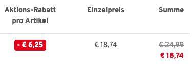 Doppelpack Champion Unisex T Shirts verschiedene Farben (M bis XXXL) für 18,74€ (statt 25€)