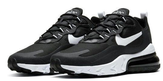 Nike Air Max 270 React in Schwarz Weiß für 55,90€ (statt 89€)
