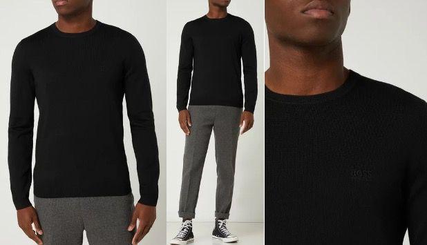 BOSS Athleisurewear Pullover Raio aus reiner Schurwolle in einigen Farben für 74,99€ (statt 120€)