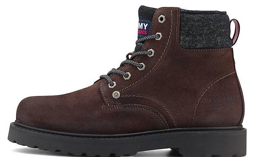 Tommy Jeans Schnür Leder Boots in Mittelbraun für 63,71€ (statt 90€)