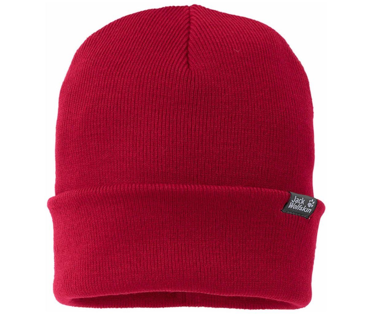 Jack Wolfskin Rib Hat Feinstrickmütze in Rot für 12,90€ (statt 16€)