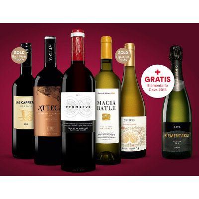 Vinos Weinprobe-Paket mit 5x Wein, 1x Cava inkl. Online-Weinprobe für 34,99€ (statt 83€)