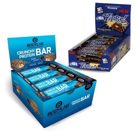 12x Weider Yippie! Bar + 12x Bodylab24 Crunchy Protein Bar Riegel für 25€ (statt 39€)