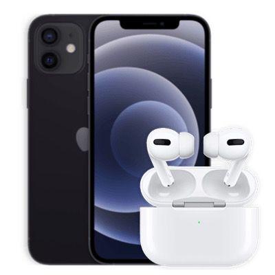 Apple iPhone 12 64GB mit AirPods Pro für 1€ + o2 Allnet Flat mit 120GB LTE/5G (!) für 62,99€ mtl.