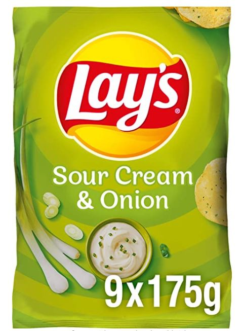 9er Pack Lays Sour Cream & Onion Kartoffelchips ab 9,72€