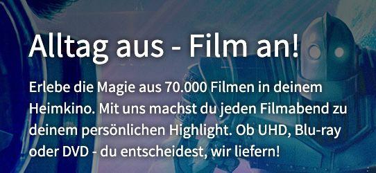 Videobuster: 2 Filme auf Blu ray oder DVD für 2,99€ ausleihen