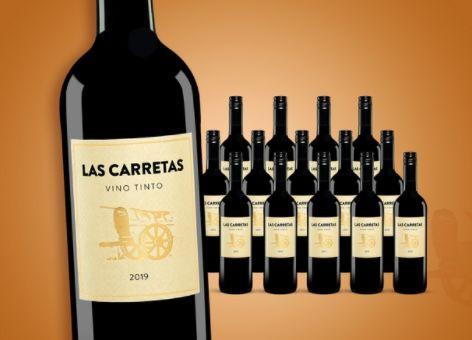 15 Flaschen Las Carretas 2019 Rotwein für 40,89€   nur 2,73€pro Flasche