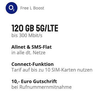Apple iPhone 12 mit 64GB für 99€ + o2 Allnet Flat mit 120GB LTE/5G inkl. Connect Funktion für 44,99€ mtl.