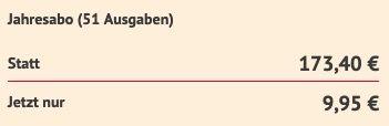 GRAZIA Jahresabo mit 52 Ausgaben für nur einmalig 9,95€ (statt 173€)