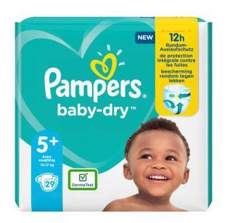 7x 29er Pack Pampers Baby-Dry Größe 5+ für für 36,93€ (statt 54€)