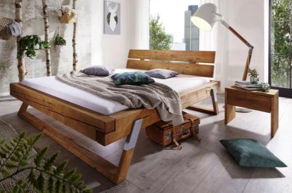 Massivholzbett (180 x 200cm) aus Fichtenholz in Balken Optik für 489,30€ (statt 730€)