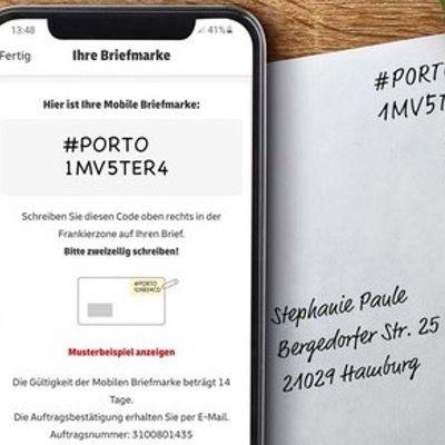 Die mobile Briefmarke der Deutschen Post – über die Post & DHL App ohne Registrierung