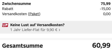 Bruno Banani Wollmantel melierte Optik in Schwarz für 60,99€ (statt 150€)