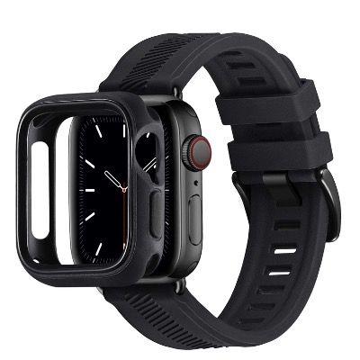 RTYHI Silikon Armband für die Apple Watch 38 bis 44mm in Schwarz für 2,60€ (statt 13€)
