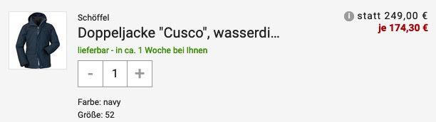 Schöffel 3in1 Herren Jacke Cusco Sky Captain für 174,30€ (statt 245€)   48 & 50