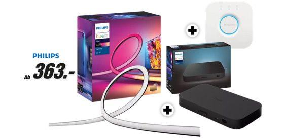 Philips Hue Play Gradient 65″ Lightstrip + HDMI Box + Bridge für 353€ (statt 488€)