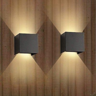 2x Lureshine LED-Wandleuchte aus Aluminium 6000K kaltweiß IP65 für 27,49€ (statt 50€)