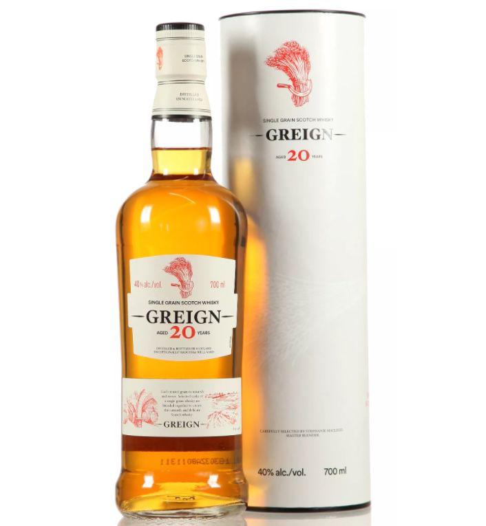Greign 20 Jahre Single Grain Scotch Whisky (0,7 Liter) für 28,90€ (statt 40€)