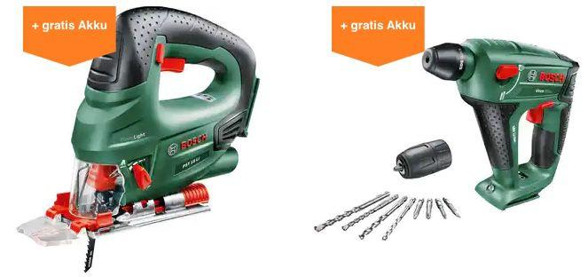OBI: Bosch Grün 18 V Maschine kaufen + gratis Akku & Ladegerät erhalten (Wert 50€)