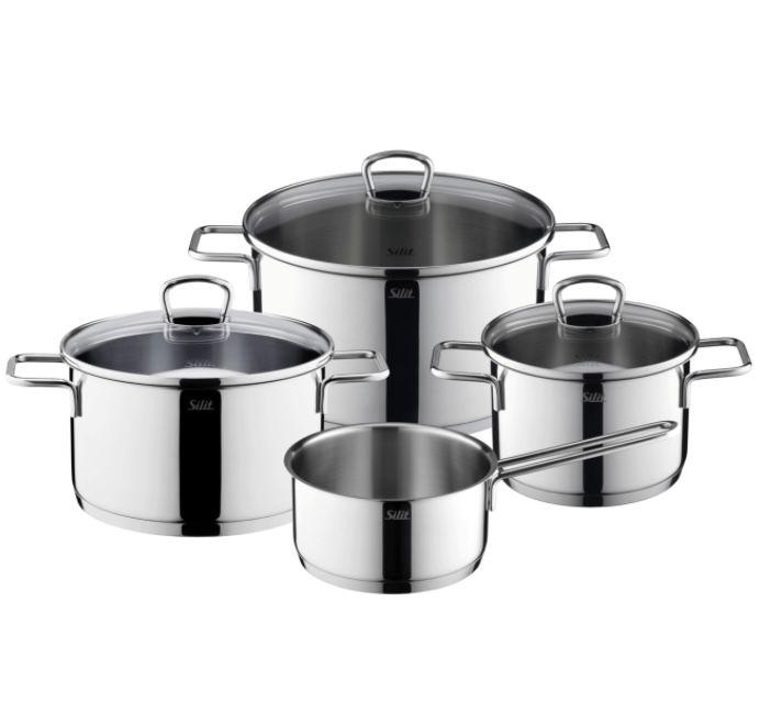 Silit Alicante Kochtopf-Set 4-teilig mit Stielkasserolle für 64,94€(statt 74€)