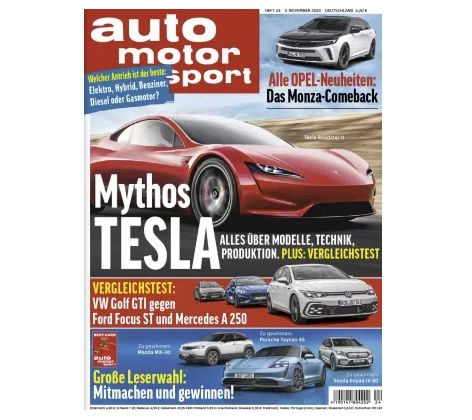 13 Monate auto motor und sport für 128,70€ – Prämie: 110€ Amazon-Gutschein