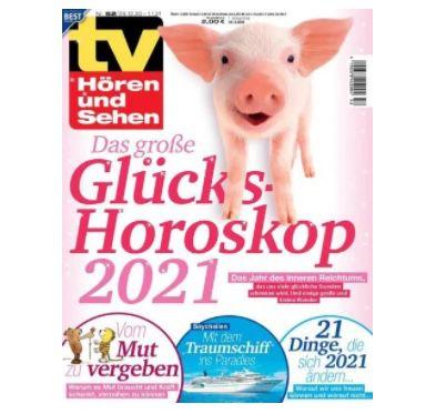 52 Ausgaben TV Hören & Sehen für 114,60€ + Prämie: 115€ Gutschein