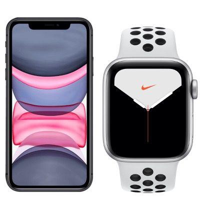 Apple iPhone 11 + Apple Watch 5 Nike LTE für 129€ mit Vodafone Allnet inkl. 20GB LTE für 39,99€