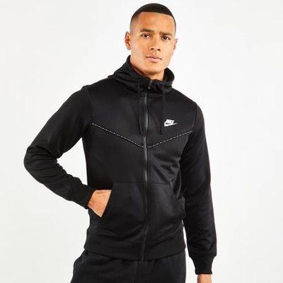 Nike Herren Hoodie Repeat Poly Full Zip in Schwarz für 29,99€ (statt 47€)