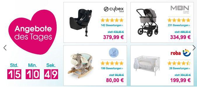 Babymarkt mit bis zu 50€ Staffelrabatt bis Mitternacht   je nach Einkaufswert