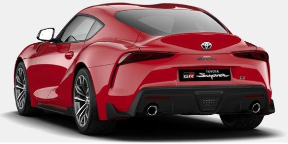 Privat: Toyota Supra GR Supra Dynamic 258PS mit Vollaustattung in Rot für 373,92€ mtl.   LF 0,69