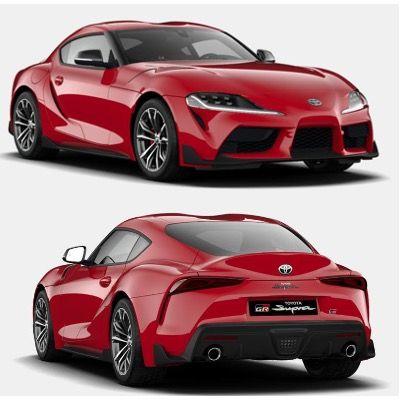 Privat: Toyota Supra GR Supra Dynamic 258PS mit Vollaustattung in Rot für 373,92€ mtl. – LF 0,69