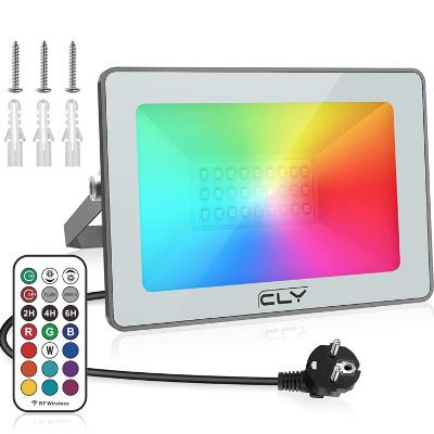 40% Rabatt auf CLY RGB LED Strahler mit Fernbedienung – z.B. 25W für 14,75€ (statt 25€)