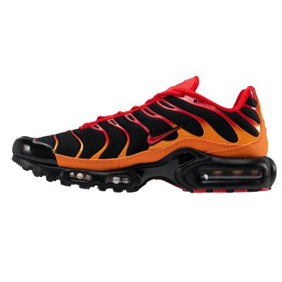 Nike Air Max Plus Black-ChileRed-VividOrange für 80€ (statt 120€)