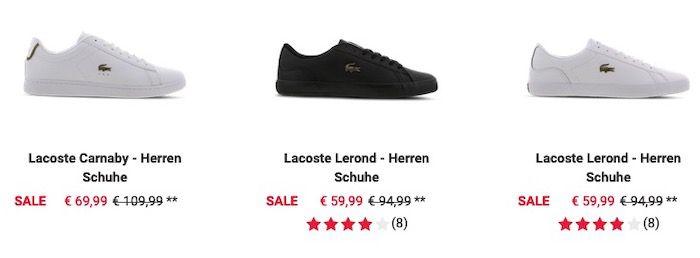 Foot Locker Lacoste Sale   z.B. Lacoste Powercourt Herren Schuh für 59,99€ (statt 100€)